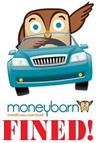 Mis Sold Car Finance Moneybarn Fined Blog Logo
